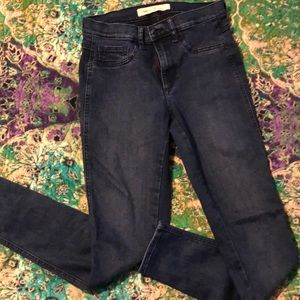 Gap 28R Easy Legging Jeans dark wash like new